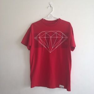 "Men's Diamond Supply Co. Red ""LIFE"" Graphic Tee"
